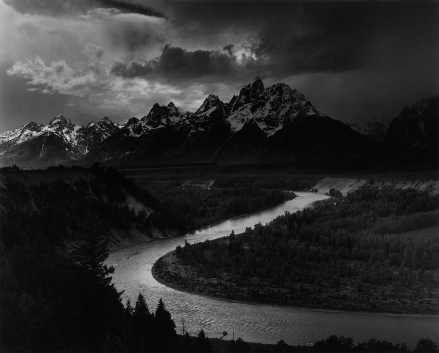 Grand Teton National Park, Snake River, Wyoming - Photo by Ansel Adams